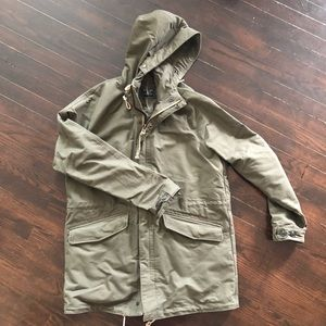 Green Abercrombie and Fitch Parka coat